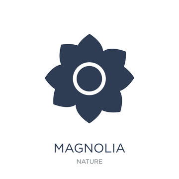 Magnolia icon. Trendy flat vector Magnolia icon on white background from nature collection