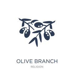 Olive Branch icon. Trendy flat vector Olive Branch icon on white background from Religion collection