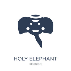 holy Elephant icon. Trendy flat vector holy Elephant icon on white background from Religion collection