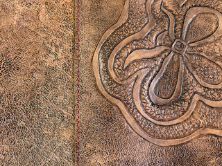 texture of toned carved leather