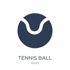 Tennis ball icon. Trendy flat vector Tennis ball icon on white background from sport collection