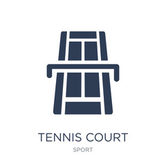 Tennis court icon. Trendy flat vector Tennis court icon on white background from sport collection
