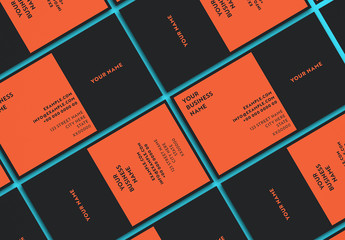 Black and Orange Business Card Layout