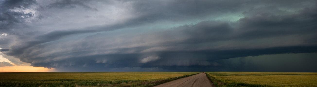 Supercell storm near Springfield Colorado, June 2015