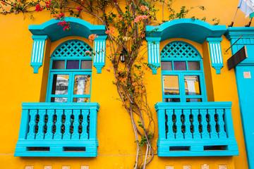 De kleurrijke koloniale huizen in de ommuurde stad Cartagena de Indias