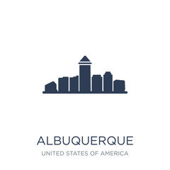 albuquerque icon. Trendy flat vector albuquerque icon on white background from United States of America collection