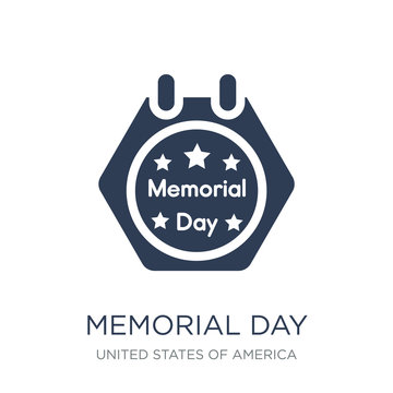 Memorial Day icon. Trendy flat vector Memorial Day icon on white background from United States of America collection