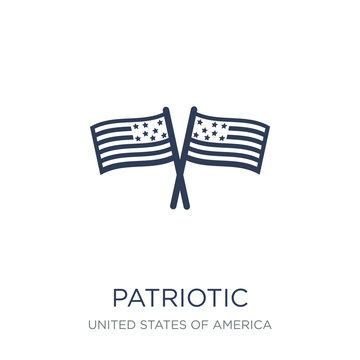 patriotic icon. Trendy flat vector patriotic icon on white background from United States of America collection