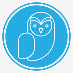 Owl vector icon sign symbol