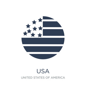 Usa icon. Trendy flat vector Usa icon on white background from United States of America collection