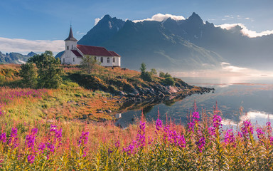 A Church in the fjord