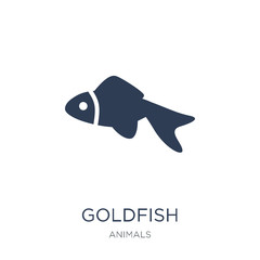 Goldfish icon. Trendy flat vector Goldfish icon on white background from animals collection