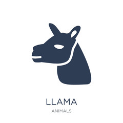 Llama icon. Trendy flat vector Llama icon on white background from animals collection