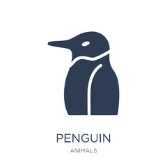 Penguin icon. Trendy flat vector Penguin icon on white background from animals collection