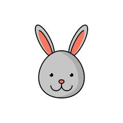 Cute rabbit logotype