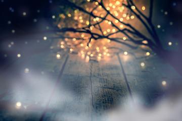 Dark Foggy Halloween Night Background