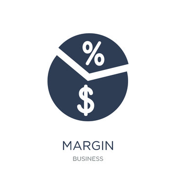 Margin icon. Trendy flat vector Margin icon on white background from Business collection
