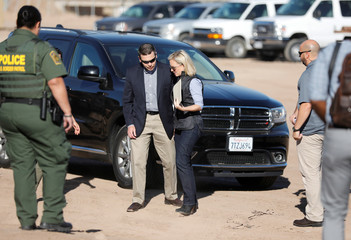 U.S. Department of Homeland Security Secretary Kirstjen Nielsen and Kevin McAleenan, the Commissioner of the U.S. Customs and Border Patrol, visit U.S. President Donald Trump's border wall in the El Centro Sector in Calexico