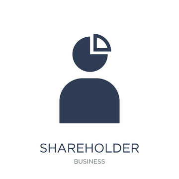Shareholder icon. Trendy flat vector Shareholder icon on white background from business collection