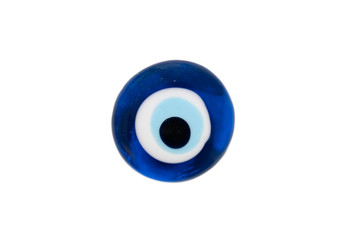 solated turkish evil eye amulet on white background, Wall mural