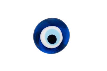 solated turkish evil eye amulet on white background,