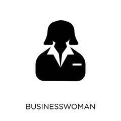 Businesswoman icon. Businesswoman symbol design from Business collection.