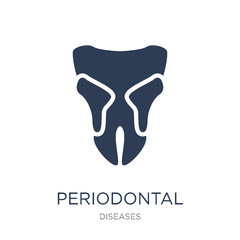 Periodontal disease icon. Trendy flat vector Periodontal disease icon on white background from Diseases collection