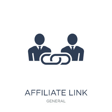 affiliate link icon. Trendy flat vector affiliate link icon on white background from general collection