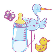 Baby shower cartoon