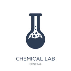 chemical lab icon. Trendy flat vector chemical lab icon on white background from general collection