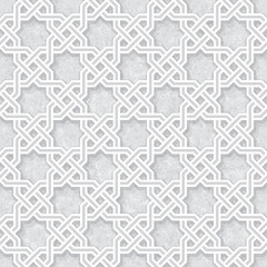 Geometric Pattern with Grunge Light Grey Background, Vector Illustration