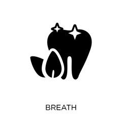 Breath icon. Breath symbol design from Dentist collection.