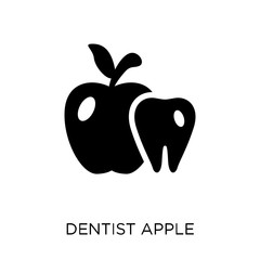 Dentist Apple icon. Dentist Apple symbol design from Dentist collection.
