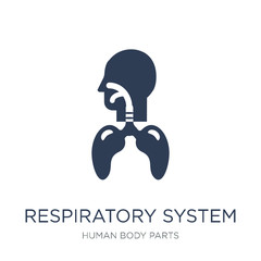 Respiratory System icon. Trendy flat vector Respiratory System icon on white background from Human Body Parts collection