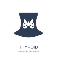 Thyroid icon. Trendy flat vector Thyroid icon on white background from Human Body Parts collection