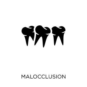 Malocclusion icon. Malocclusion symbol design from Dentist collection.