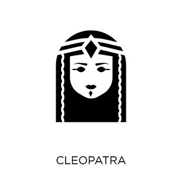 Cleopatra icon. Cleopatra symbol design from Desert collection.