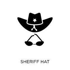 Sheriff Hat icon. Sheriff Hat symbol design from Desert collection.