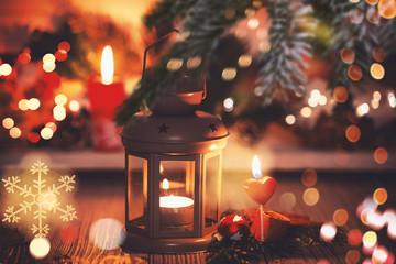 romantische Weihnachtskarte