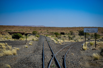 Weiche in Namibia