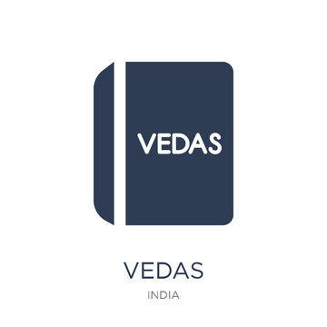 vedas icon. Trendy flat vector vedas icon on white background from india collection