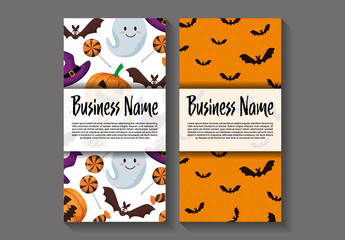 DL Flyer Layouts with Halloween Patterns