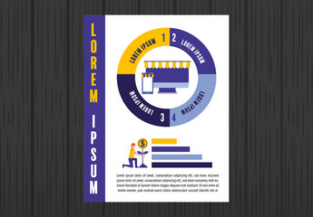 Online Shopping Infographic Poster Layout