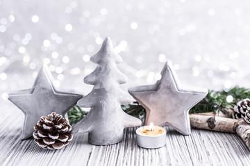 Weihnachten Card Grau