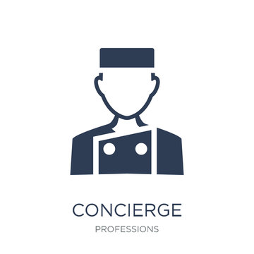 Concierge icon. Trendy flat vector Concierge icon on white background from Professions collection