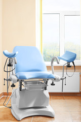 Maternity chair in examination room