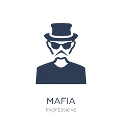 Mafia icon. Trendy flat vector Mafia icon on white background from Professions collection