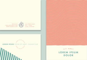 Pastel Postcard Layout Set