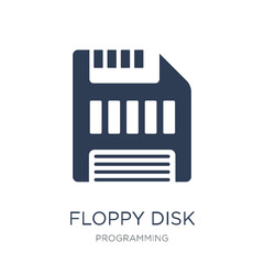 Floppy disk icon. Trendy flat vector Floppy disk icon on white background from Programming collection