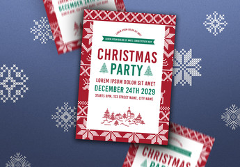 Christmas Party Poster Layout